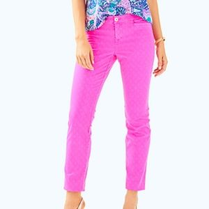 Lilly Pulitzer Textured Kelly Skinny Ankle Pant